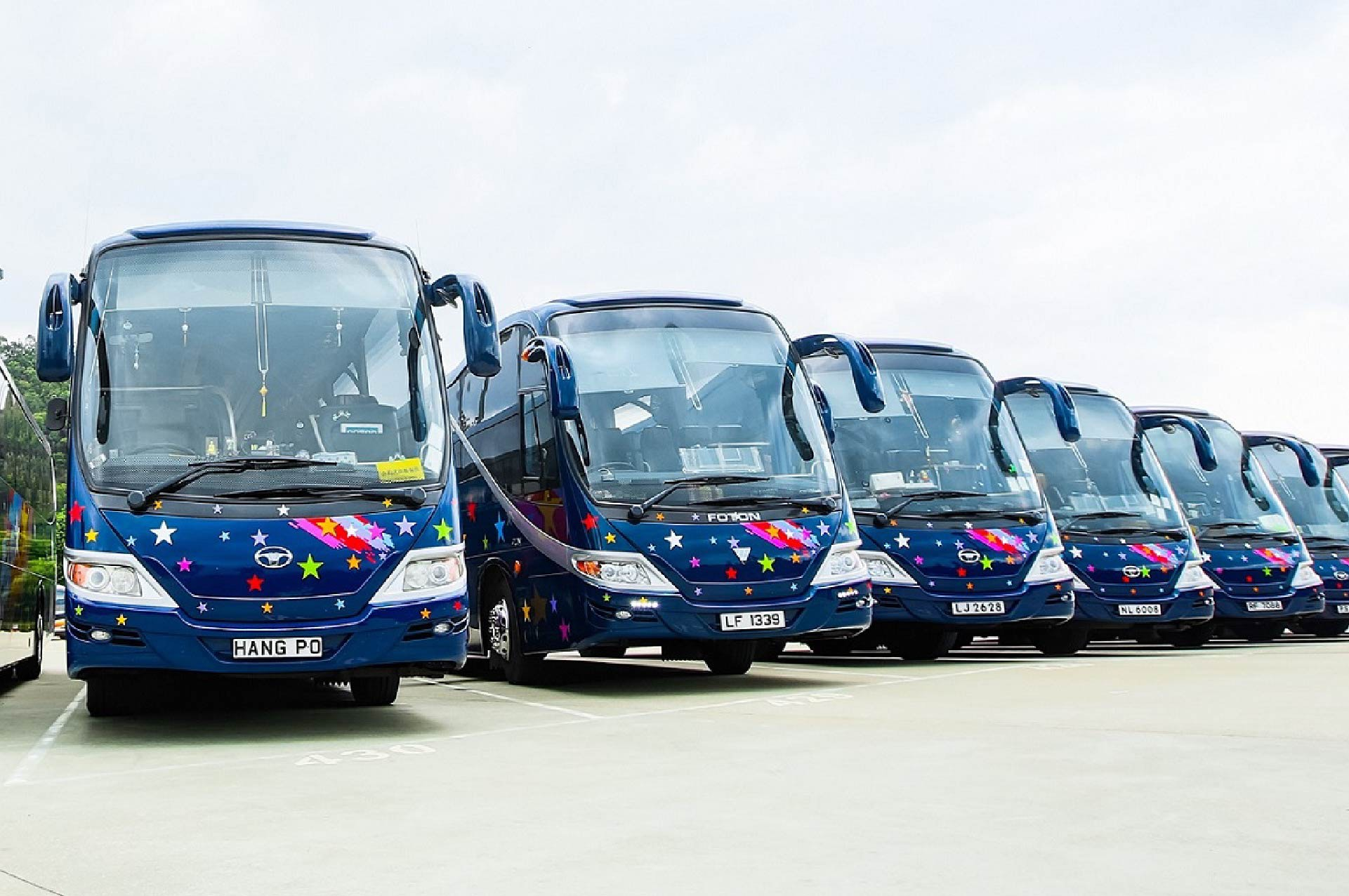 A variety of vehicles to cater for all sorts of demand of customer